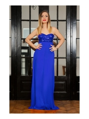 Rochie Long Attraction Blue